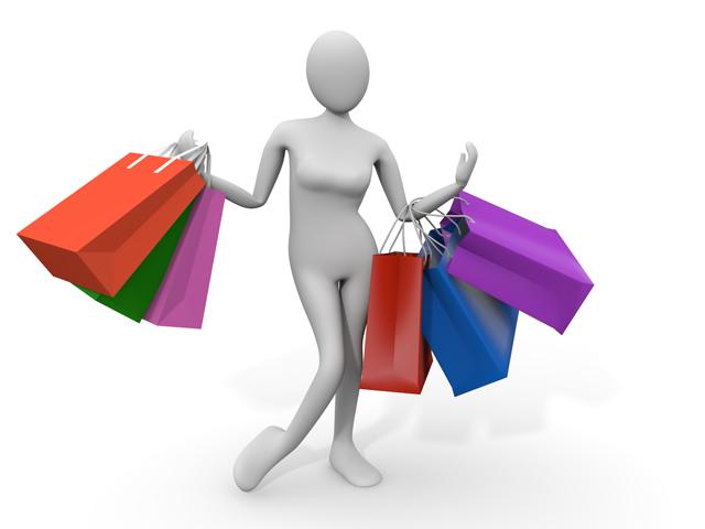 買い物をしている画像です。