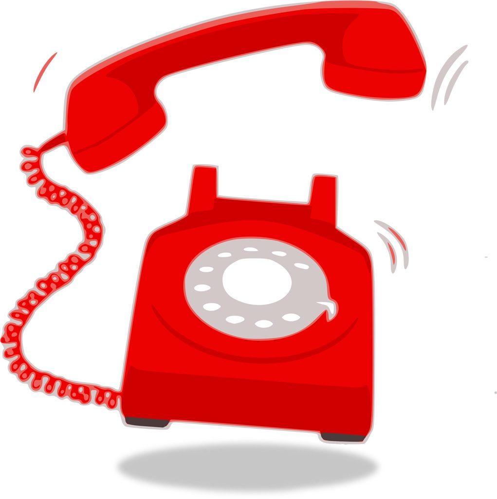 電話が鳴っている画像です。