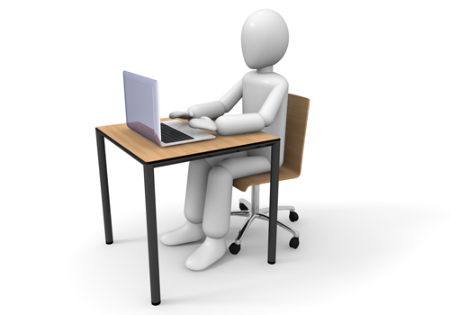 パソコンを使う人のイメージ画像です。