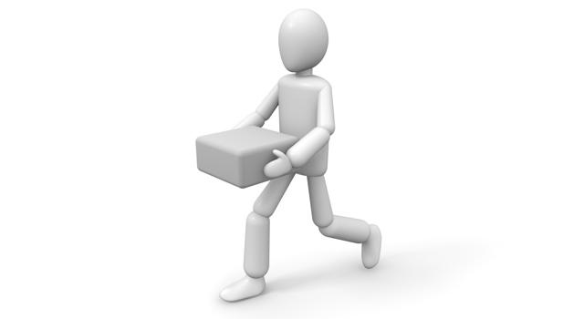 荷物を運ぶ画像