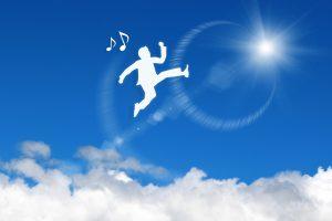 喜びのジャンプ!