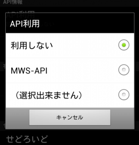 API設定その2
