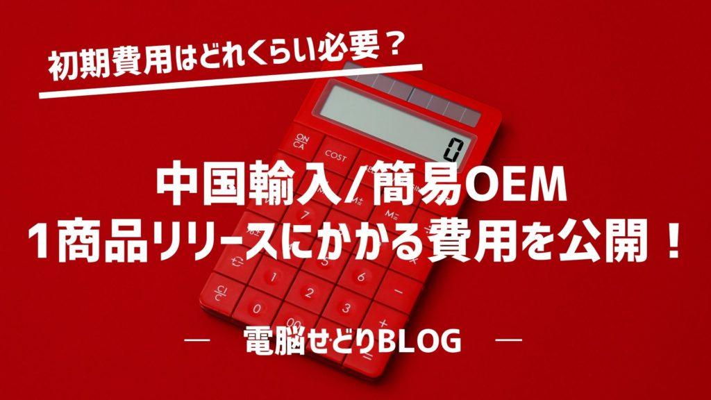 【結論】中国輸入(簡易OEM)の初期費用はどれくらいかかるのか?各項目ごとにかかる費用をまとめてみました!