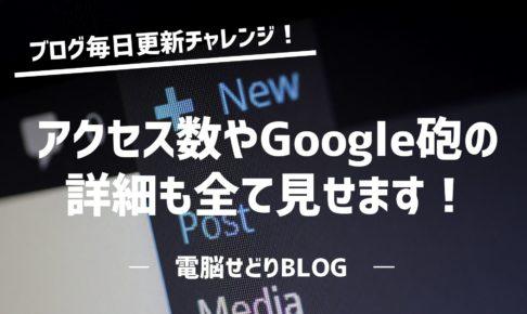『ブログ毎日更新チャレンジ!』ブログを1か月連続更新した結果を公開!アクセス数やGoogle砲の詳細も全て見せます!
