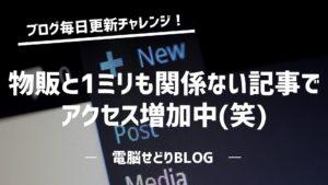 『ブログ毎日更新チャレンジ!』ブログを2か月連続更新した結果を公開!物販と全く関係ない記事でアクセス増加中(笑)