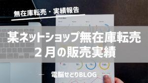 【売上報告】某ネットショップ無在庫転売/2月の販売実績
