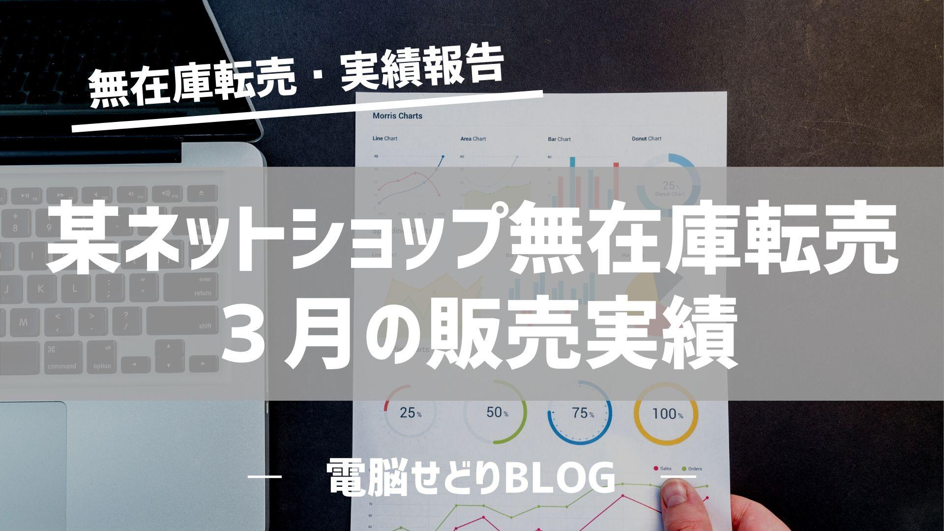 【売上報告】某ネットショップ無在庫転売/3月の販売実績