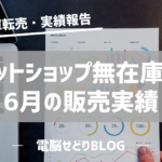 【売上報告】某ネットショップ無在庫転売/6月の販売実績